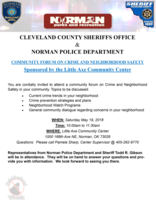 Community Forum on Crime and Neighborhood Safety