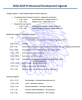 Professional Day Agenda 2018