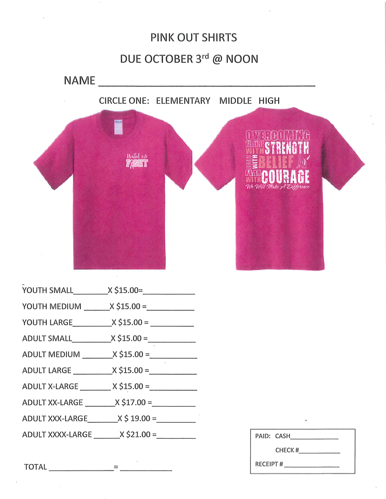 Pink OUT shirts for sale!!!